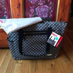 Vegan leather diaper bag new